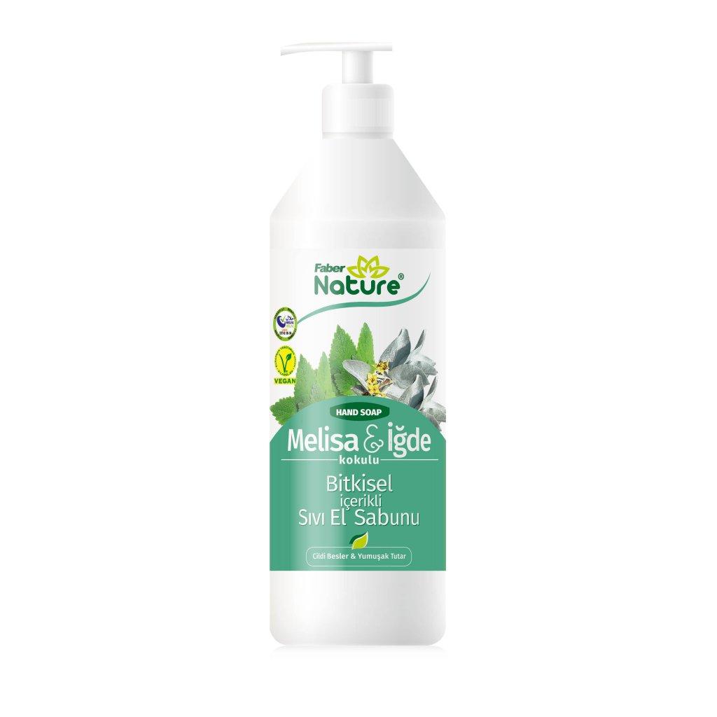 Faber Nature Hand Soap Melisa ve İğde Sıvı El Sabunu (1 L Valfli Şişe)