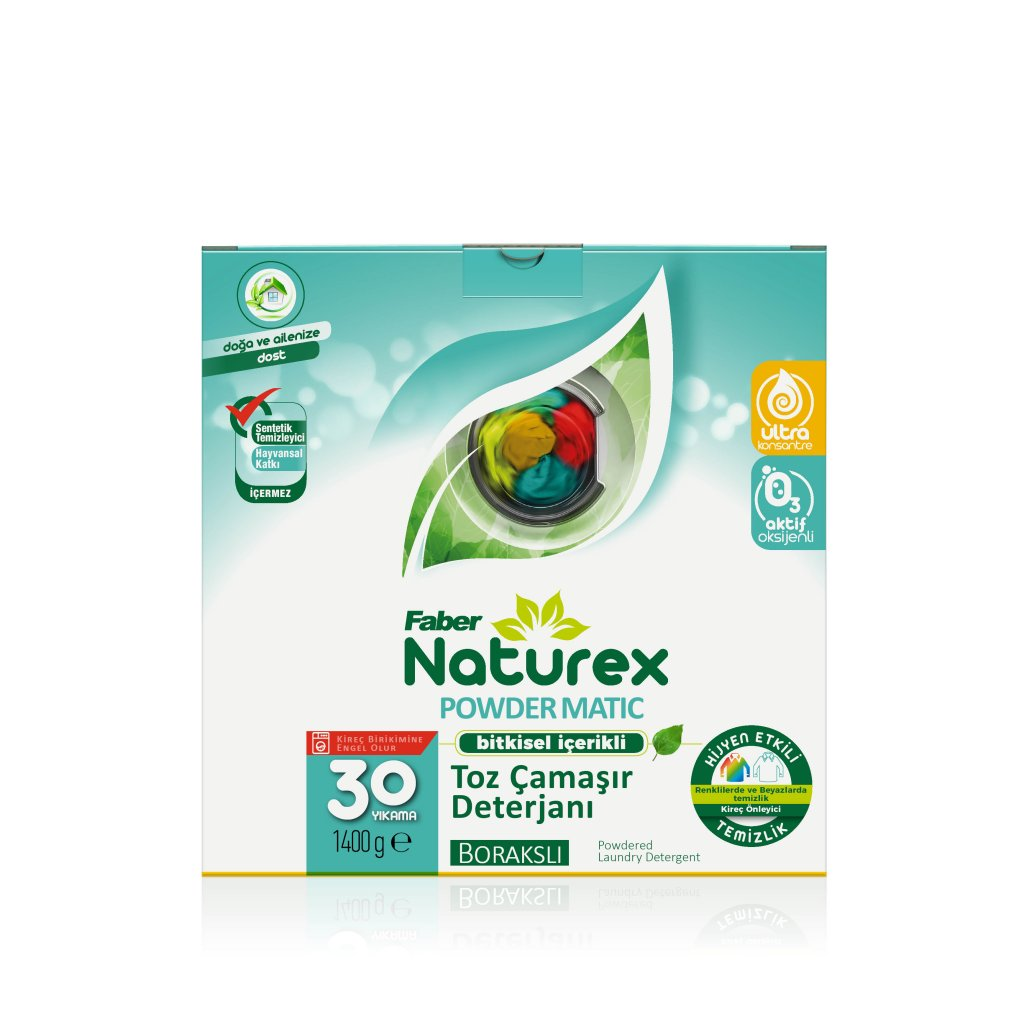 Faber Naturex Powder Matic Borakslı Toz Çamaşır Deterjanı (1.4 kg Kutu)